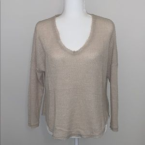 Waffle weave top